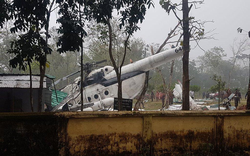 вертолет Ми-17 ВВС Бангладеш разбился в северо-восточной Бангладеш.