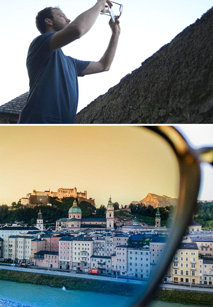 Используйте солнцезащитные очки как фильтр.