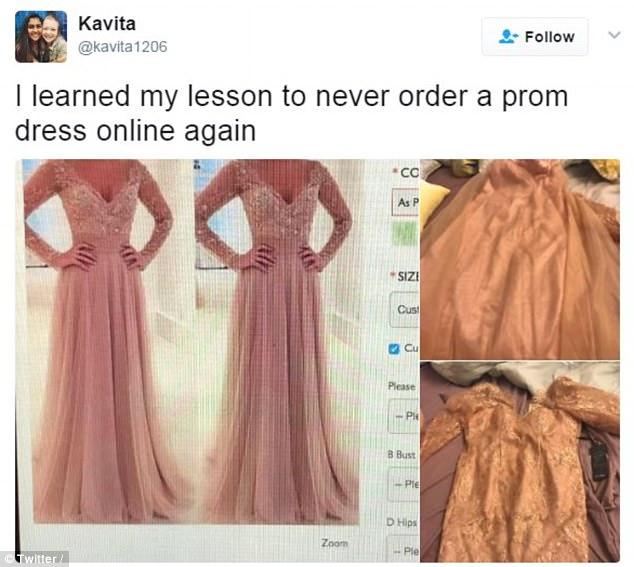 Вместо платья выпускница получила топ с юбкой.