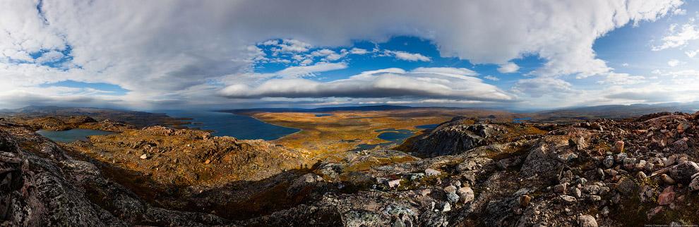 Берег полуострова Средний и Малая Волоковая губа: