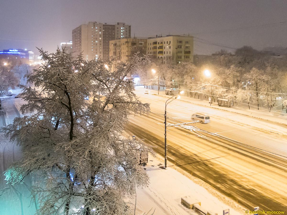 Зима на Бутырской улице. Москва. Январь 2018