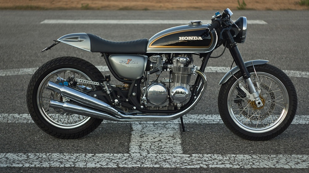 Ton-up Garage: кафе рейсер Honda CB500 Tribute