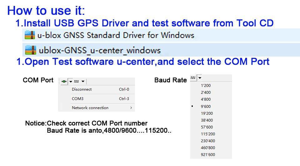 Details about Car PC windows xp 7 8 10 tablet USB GPS Receiver Module  Antenna BU-353S4 GM257