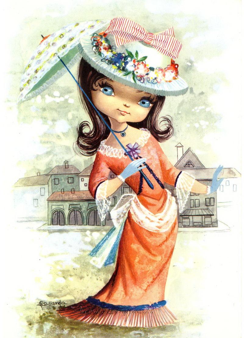 Скучаю тебя, девочка модница открытка