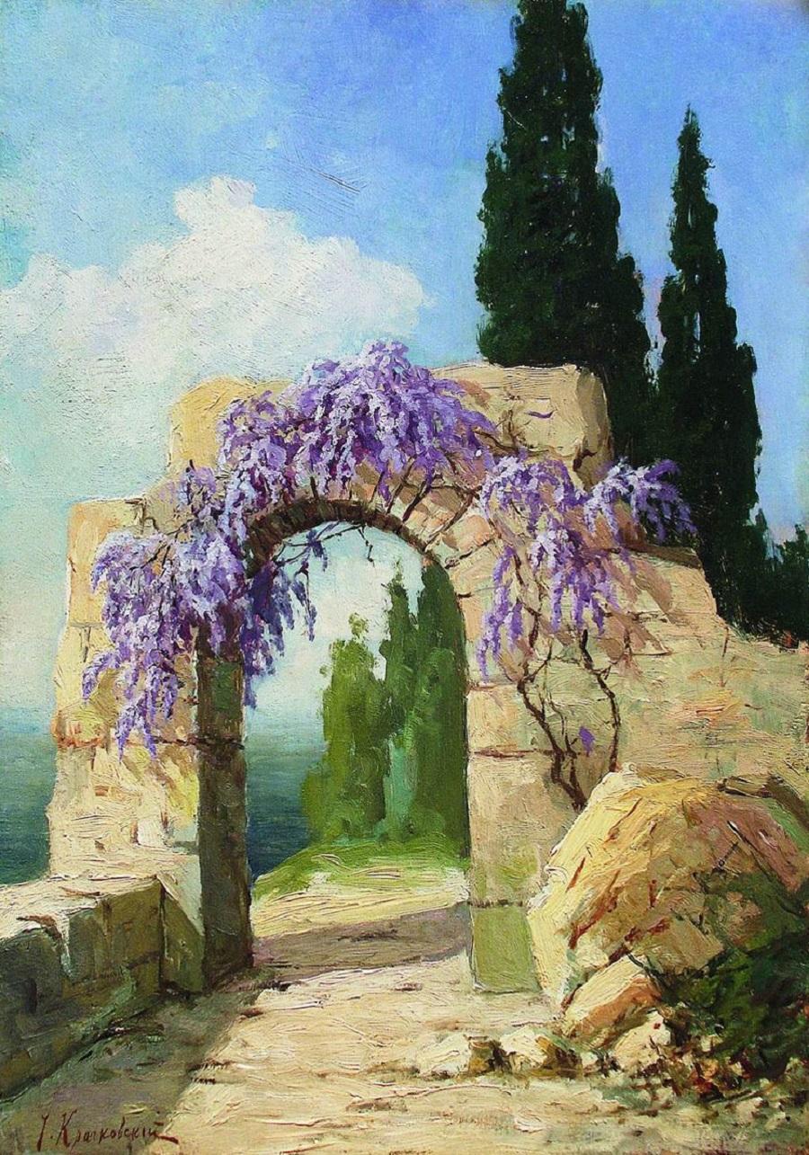 Крымский пейзаж. Разрушенная арка