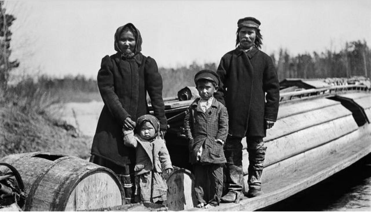 Семья самоедов на реке Тым