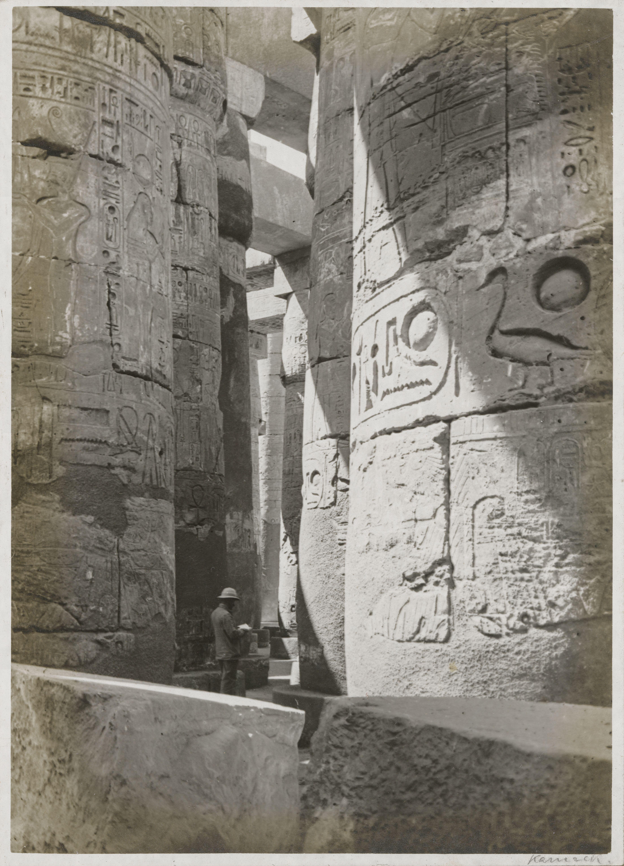 Карнак. Большой храм Амона, Вид части колонного зала