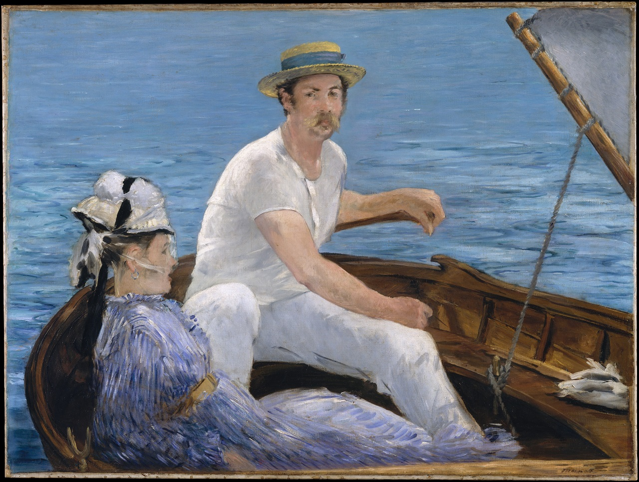 Boating, 1874 Édouard Manet (1832-1883) Metropolitan Museum of Art.j