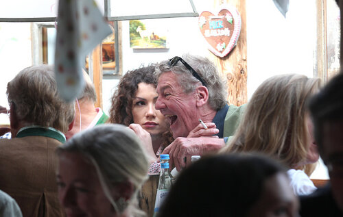MUNICH, GERMANY - SEPTEMBER 20: Ernst August von Hannover and Simona during the Oktoberfest Opening in Kaeferzelt at Theresienwiese on September 20, 2014 in Munich, Germany.  (Photo by Gisela Schober/Getty Images)