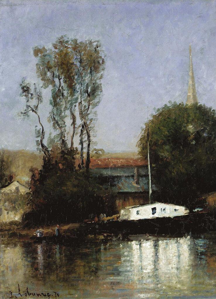 Albert Lebourg - A Boat on the Seine, 1871.jpeg