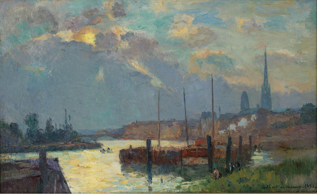 Albert Lebourg - The Port and the Cathedral of Rouen, 1892.jpeg