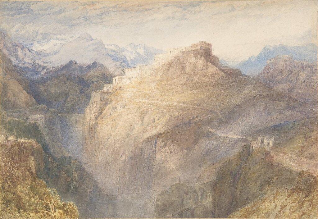 Fort of L`Essillon, Val de la Maurienne, France, 1836.jpg