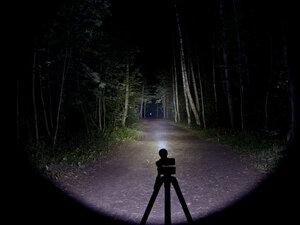 Тактический фонарь - NiteCore P16 XM-L2 T6 светит так: Максимальный режим, iso 80