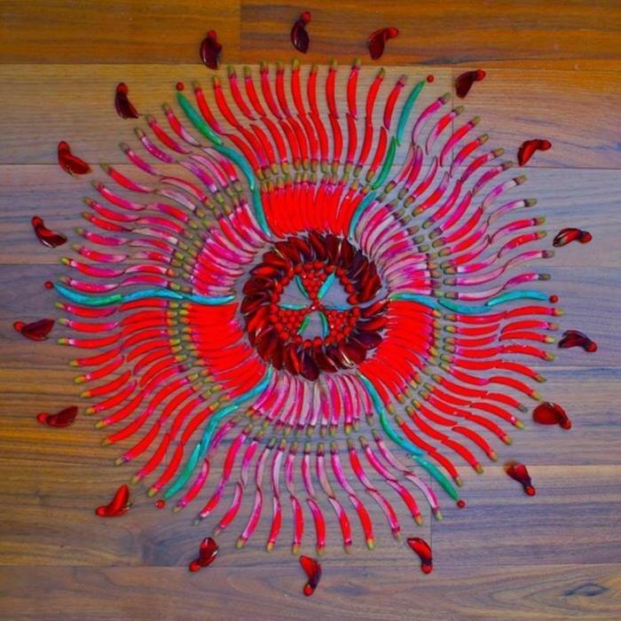 Красивые цветы мандалы Кэти Клейн (много фотографий)