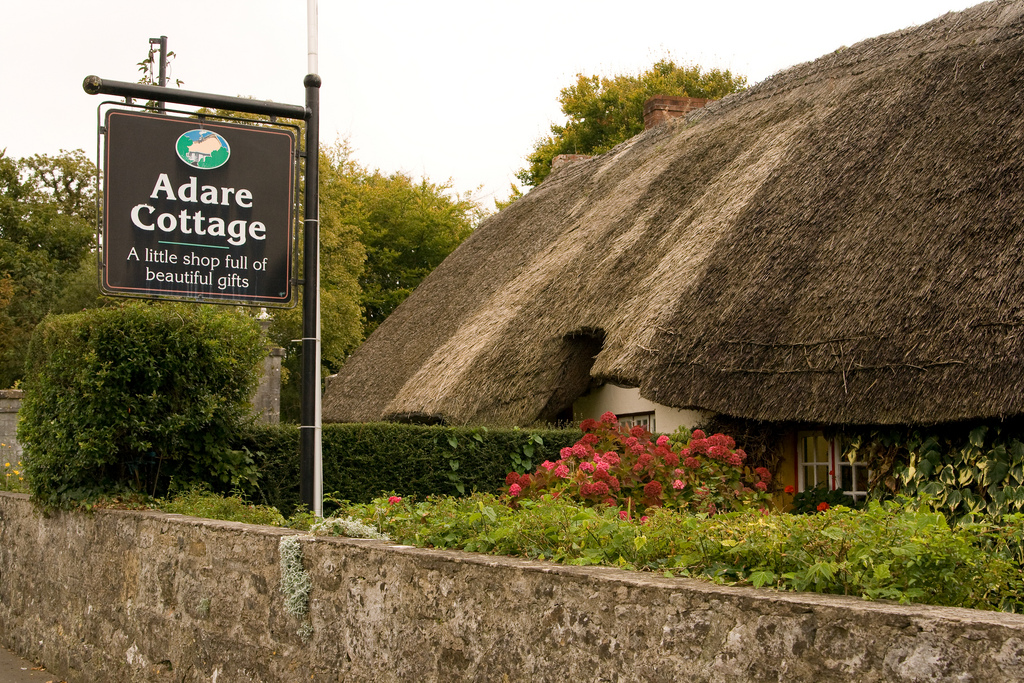 I bought a great wool sweater at this thatched roof cottage in Adare.