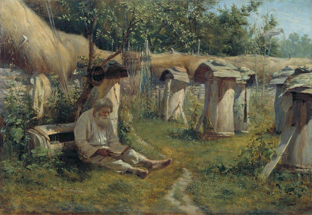 0229.Bogatov.Nikolaiy.(1854-1835).Pasechnik.1875.holst.maslo.jpg