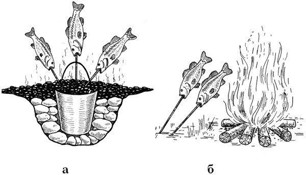 способы приготовления рыбы на костре