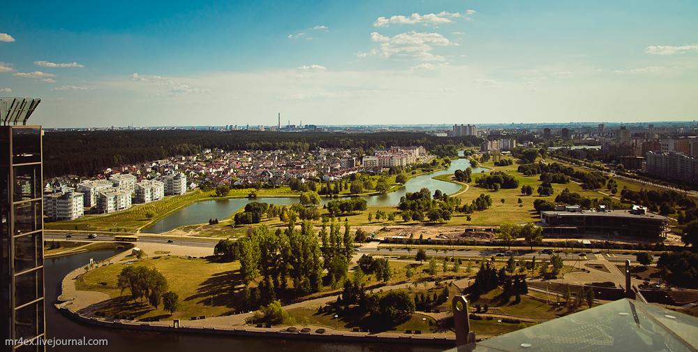 Минск, Национальная библиотека, смотровая площадка, Степянка
