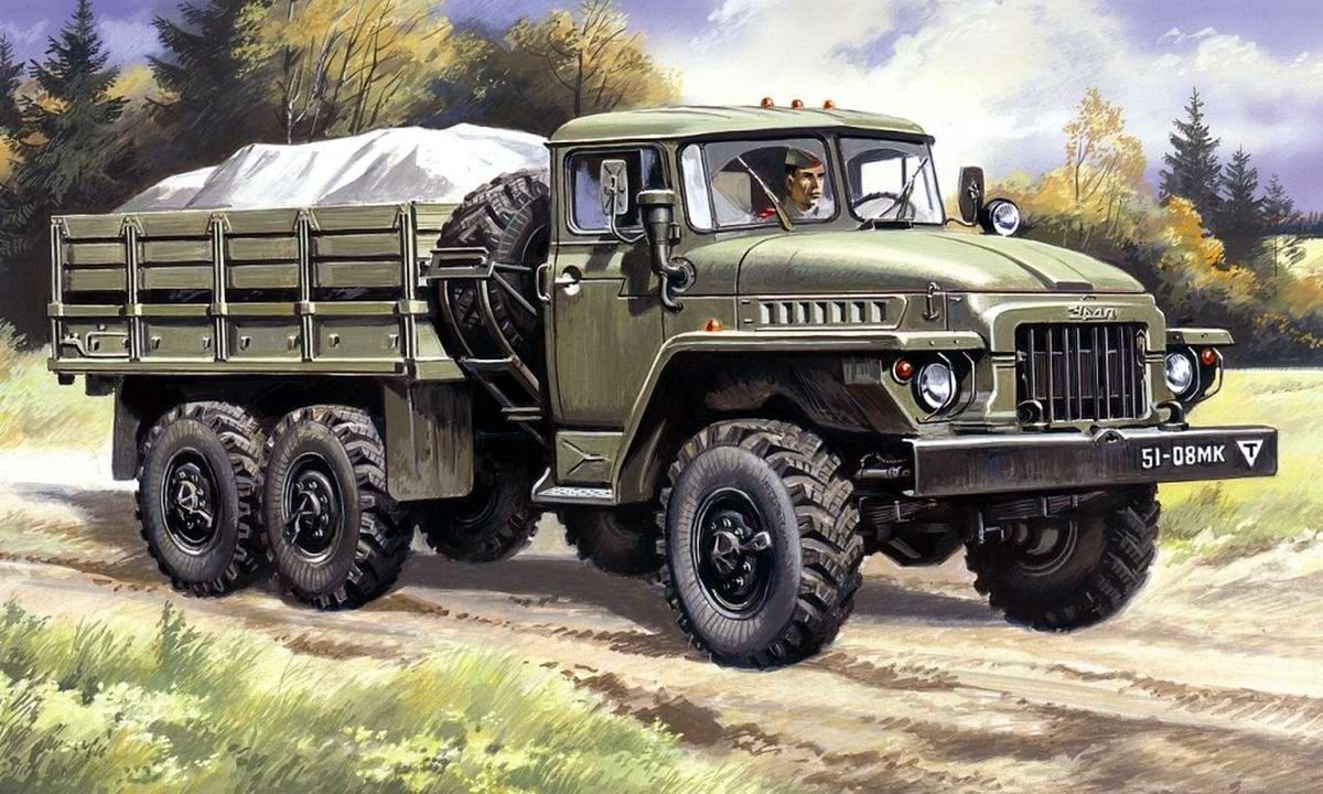 Армейский грузовой автомобиль Урал-375Д