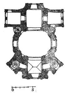 Костел на Маковой Горе, план
