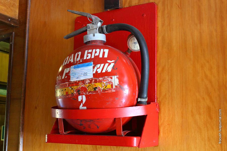 Огнетушитель на теплоходе «Габдулла Тукай»