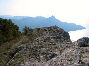 вершина Куш-Кая. Вид на бухту Ласпи