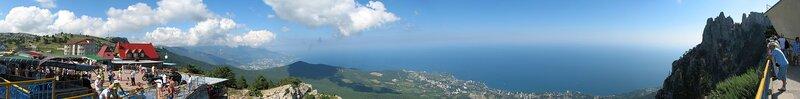Панорама с верхней площадки канатной дороги