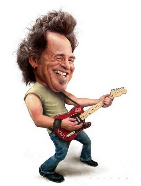 Карикатуры Джейсон Сэйлер (Jason Seiler) Брюс Спрингстин (Bruce Springsteen)