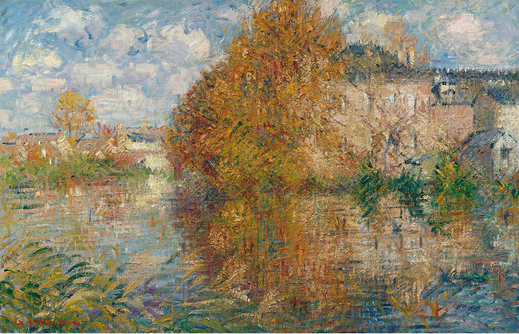 Gustave Loiseau - The House at Cau on the Banks of the Eure,  Autumn, 1929.jpg