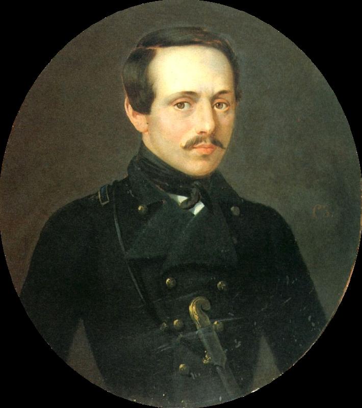 М.Ю. Лермонтов в сюртуке Тенгинского пехотного полка.  С. Зарянко.png