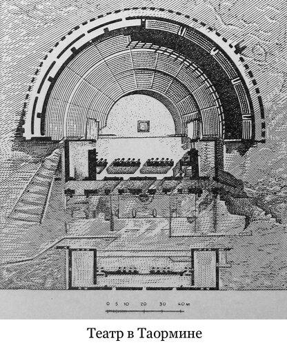 Театр в Таормине, план