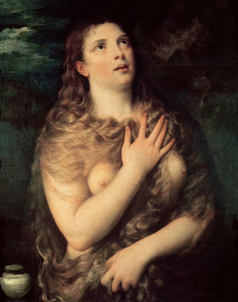 Тициан (Тициано Вечеллио): Мария Магдалина [Mary Magdalene]