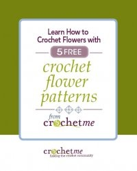 Книга Learn How to Crochet Flowers with 5 Free Crochet Flower Patterns