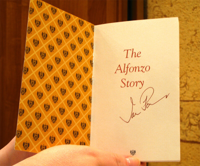 История Альфонсо, написанная Яном Поутом с его автографом