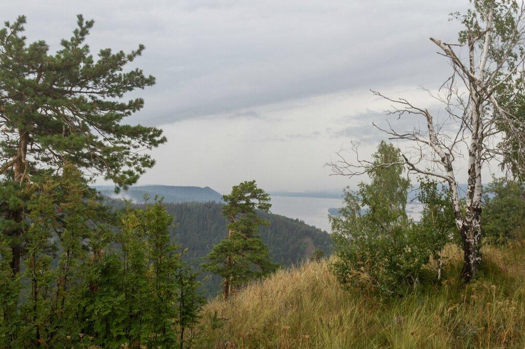 Вид на Волгу, Жигулевские горы, гора Стрельная, Волга