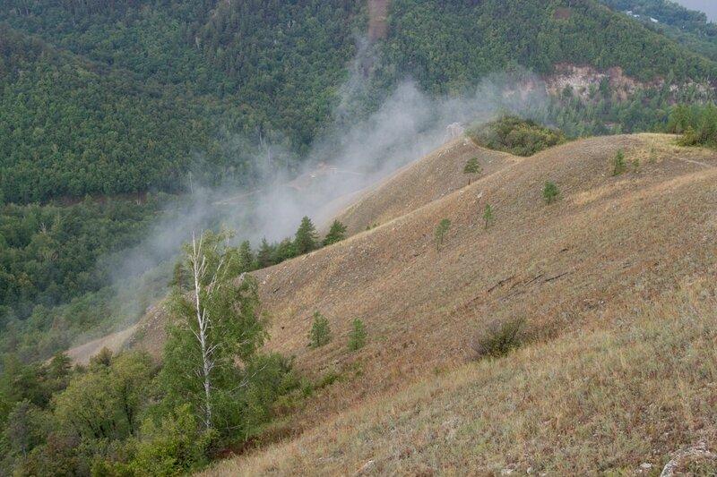 Облако на скале, Жигулевские горы