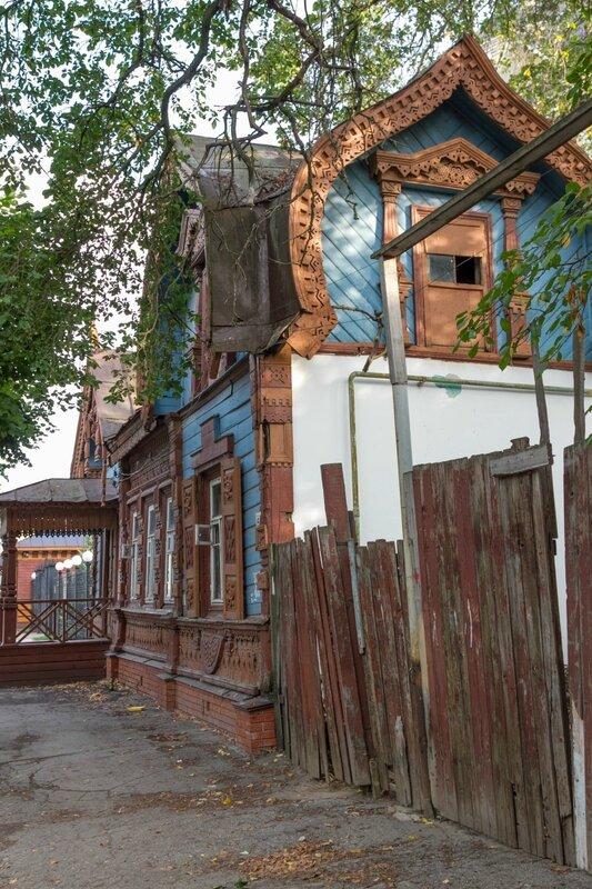 Старинный деревянный дом в Рязани