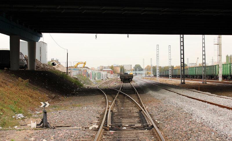 Остатки электрификации на подъездном от Черкизово