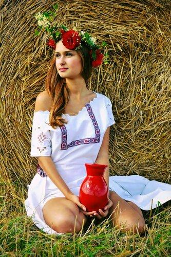 Порно в славянских костюмах #14