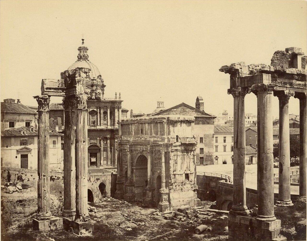 Триумфальная арка Септимия Севера и Храм Веспассиана