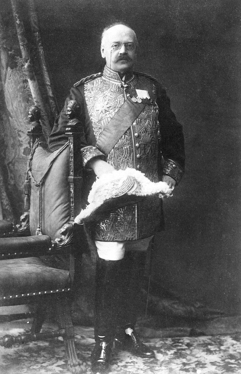 23. Александр Федорович Трепов, егермейстер Высочайшего двора, сенатор, управляющий министерством путей сообщения, член Государственной думы. 1913