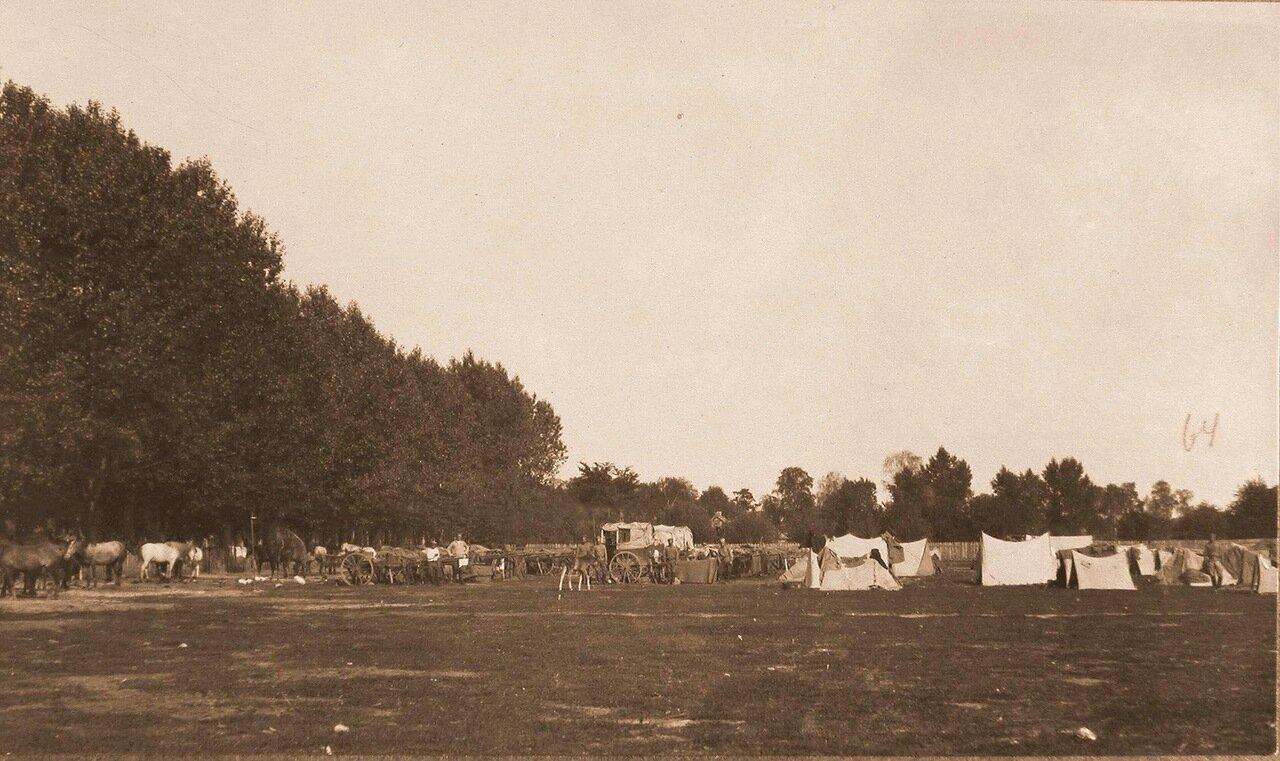 21. Обоз 54-й телеграфной рабочей колонны во время стоянки