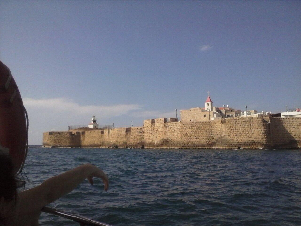 Вид Акко с моря