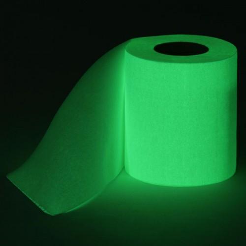Светящаяся в темноте туалетная бумага