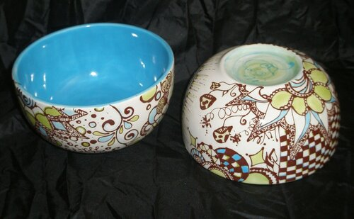 роспись посуды акрилом