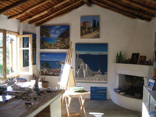 интерьер мастерской художника