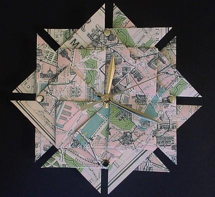 Часы из оригами