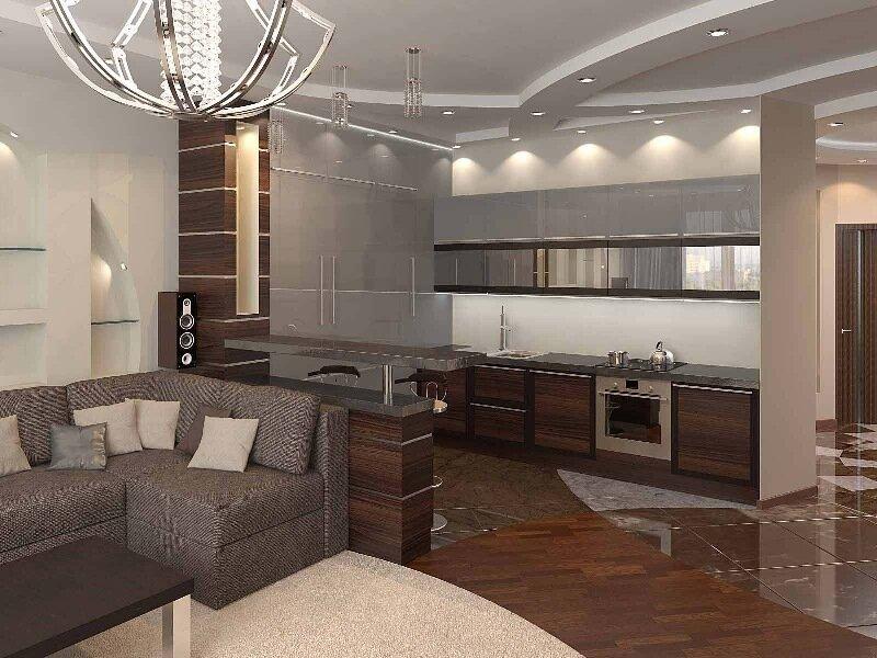 Дизайн проекты кухни-гостиной фото