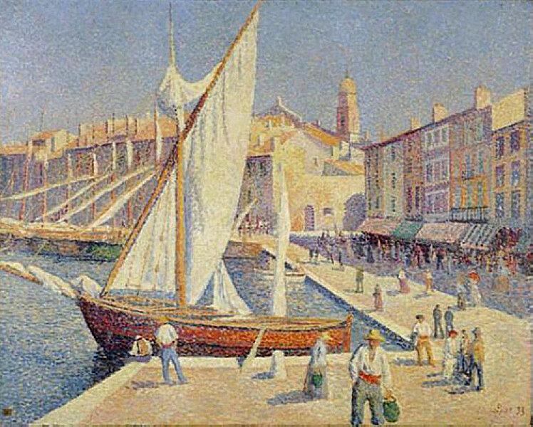 Le Port de Saint Tropez, 1893.jpg