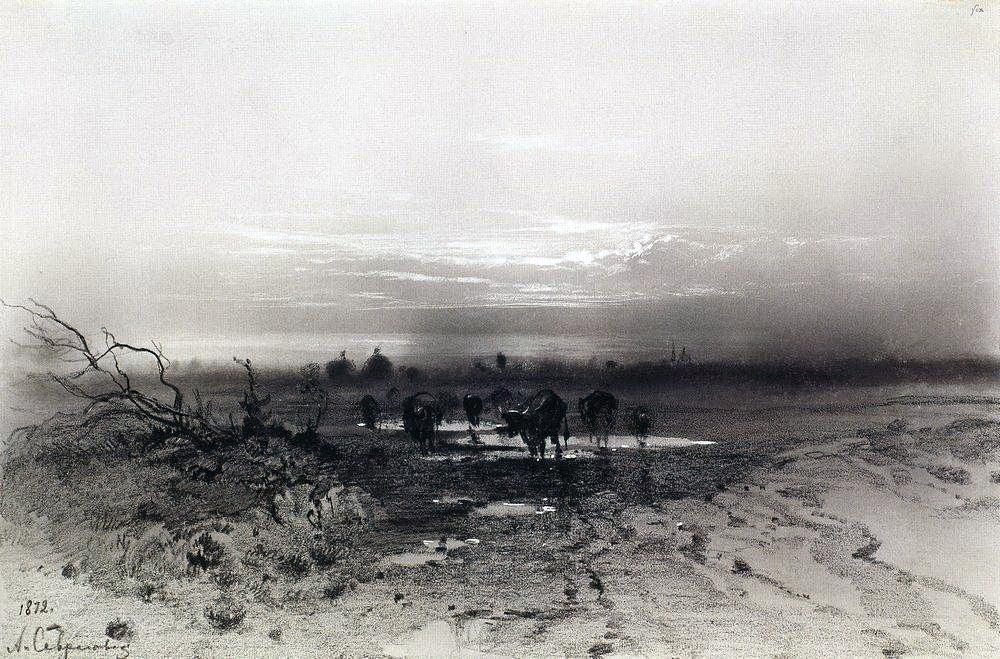 Вечер. Восход луны. 1872.jpg